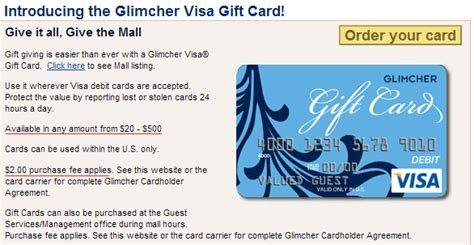 Glimcher American Express Gift Card - manufactured mondays where to find 500 visa gift cards with only a 2 fee doctor