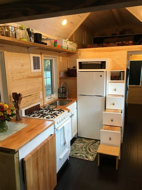 tiny home with a big kitchen tiny house completed kitchen as seen on hgtv tiny house