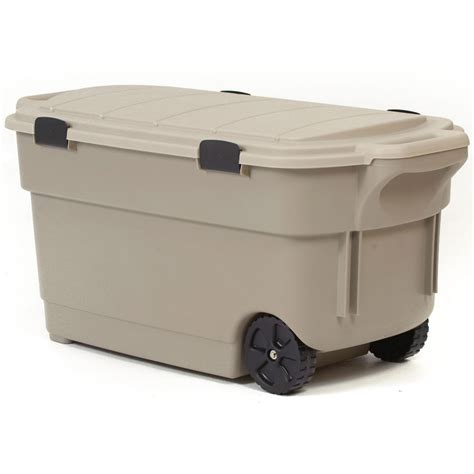 rugged storage containers shop centrex plastics llc rugged tote 45 gallon tote with latching lid at lowes