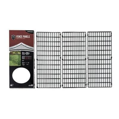 decorative fence panels home depot yardgard select 4 ft x 24 ft steel fence panel 328803a