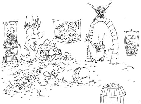 monkey pirate coloring pages pirates bluebison net