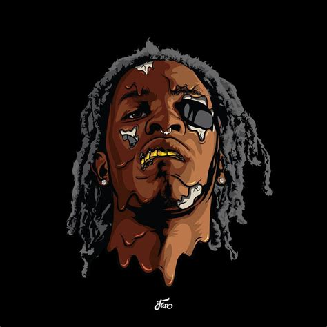young thug cartoon cartoon thug wallpapers wallpaper cave