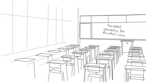 Drawing 2 Class by How To Draw A Classroom Step By Step Arcmel