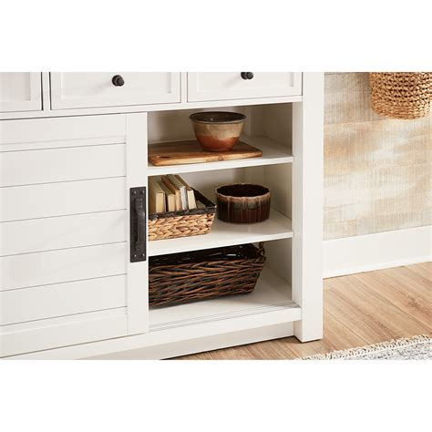 shiplap furniture shiplap cupboard with led lighting by hammary wolf and
