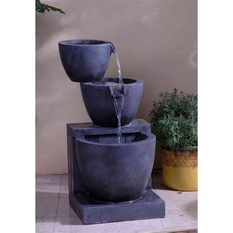 modern tier bowls indoor outdoor water fountain