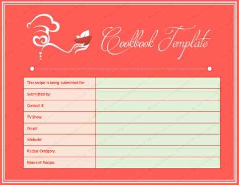 cookbook template create a cookbook for microsoft 174 word