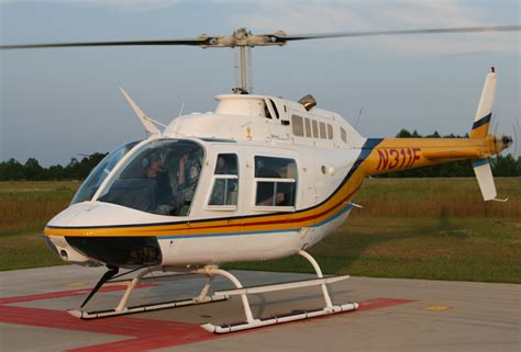 Helicopter Bell 206 wire strike protection