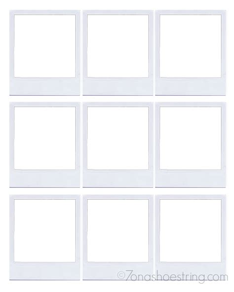 polaroid picture holder card template polaroid frame magnets craft hp instant ink ad