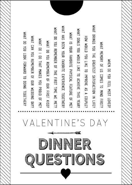 valentines day questions sissyprint s day dinner questions