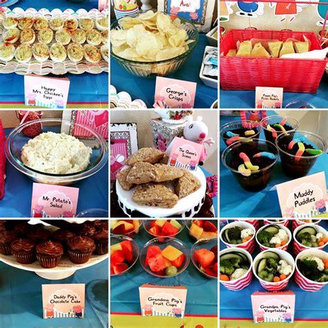 themed food easy diy peppa pig food ideas brownie bites