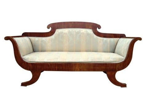 scroll arm sofa a decorative regency mahogany scroll arm sofa 366763