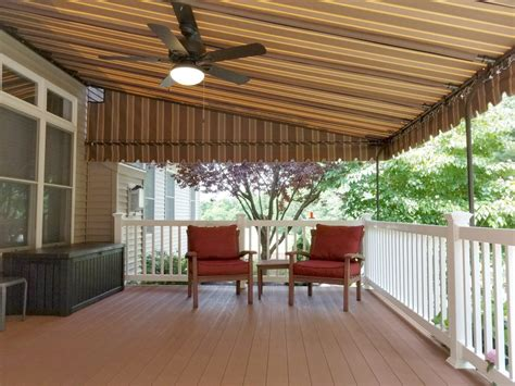 mocha striped sunbrella deck canopy kreiders canvas