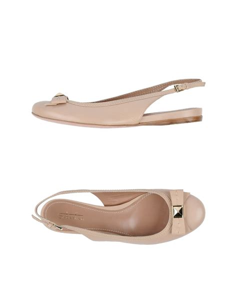 pink ballet flat shoes sebastian ballet flats in pink lyst