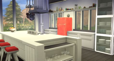 Z2 Kitchen And Bath My Sims 4 Modern Open Concept Kitchen Dining And