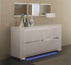 Sideboard With Mirror Elegance 2 Door White High Gloss Sideboard Opt Led Lighting