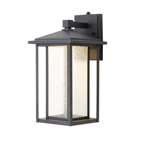black exterior lights home decorators collection black medium outdoor seeded