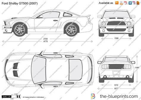 the blueprints vector drawing ford mustang shelby