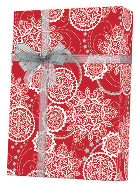 snowflake gift wrap gift wrap paper lacy snowflakes gift wrap x5463 b