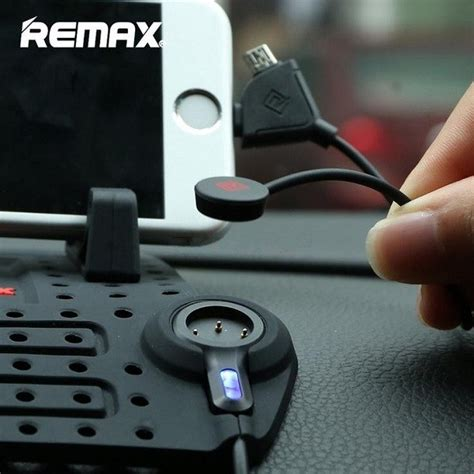 Penyangga Holder Smartphone Merk Remax Black remax soft silicone magnetic adsorption car charging stand holder mount for iphone android
