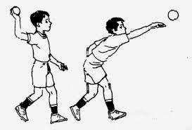 Lempar Cermat Bola gambar teknik dasar permainan kasti beserta gambarnya