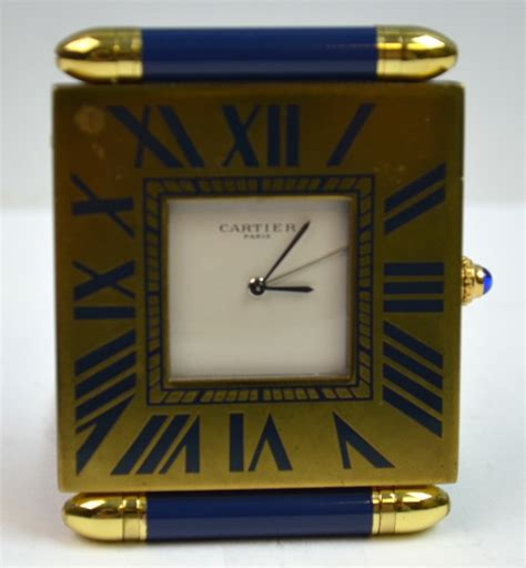 Small Desk Clocks Cartier Small Desk Clock