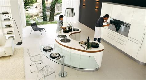 modern kitchen island table modern curved table beautiful modern home