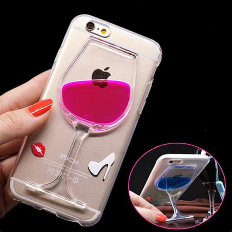 Hardcase Transparan Casing Hp Iphone 6 Gelas Wine for iphone 6 6s plus capa ultra thin clear