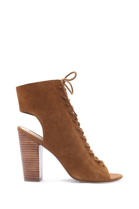 brown suede high heels forever 21 suede lace up heels in brown chestnut lyst