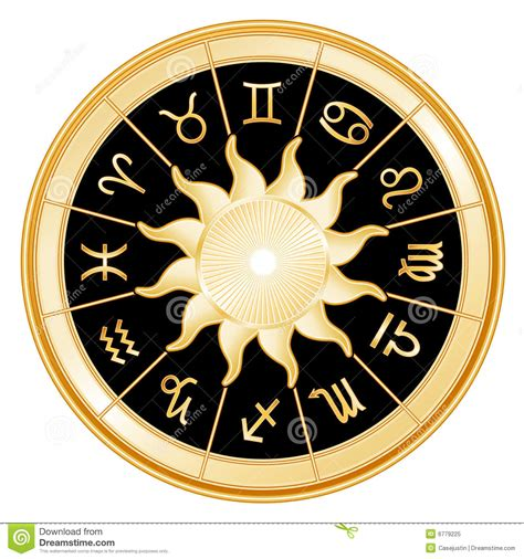 illuminati segni sun signs of the zodiac black background royalty free