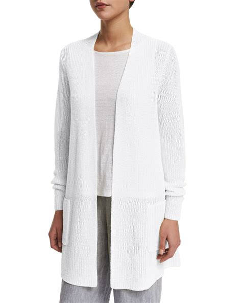 Cardigan White White Linen Cardigan Cardigan With Buttons