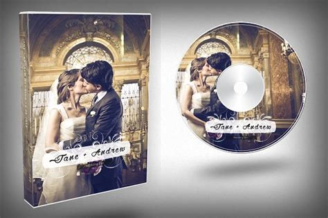 template for photoshop psd wedding dvd covers elegant wedding dvd cover templates creative market