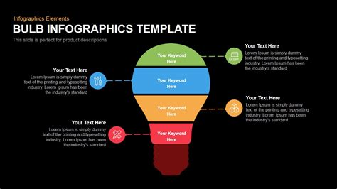 Bulb Infographics Template Powerpoint And Keynote Template Slidebazaar Free Infographic Templates Powerpoint