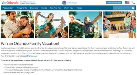 Win Vacation Sweepstakes - visitorlando com win an orlando family vacation sweepstakes sweepstakes pit