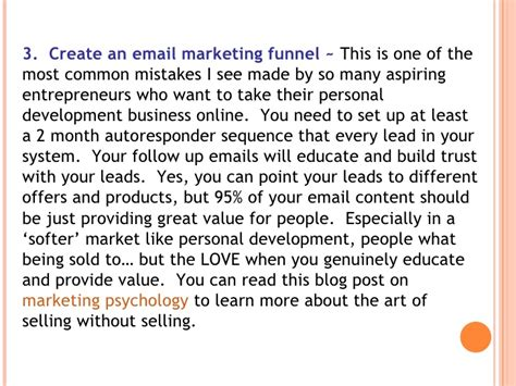 How To Start A Business Email How To Start An Personal Development Business