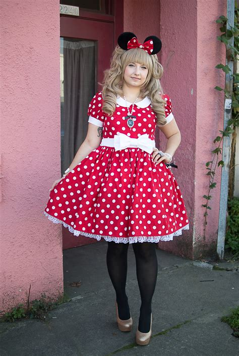 Handmade Minnie Mouse Costume - lauralyn a handmade dress angelic pretty cinema doll