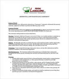 Contract for landscaping services service contracts agreements samples