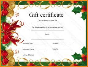 6 christmas gift certificate template free download