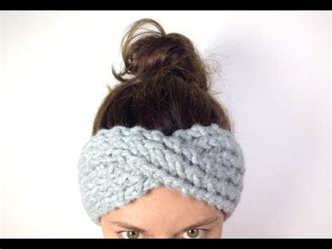 loom knit ear warmer crochet tutorial moss stitch ear warmer videomoviles
