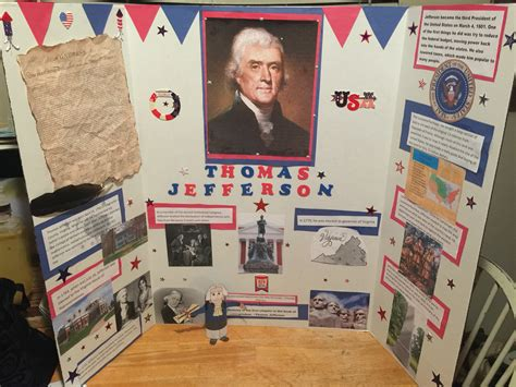 biography poster board ideas thomas jefferson caden project pinterest thomas