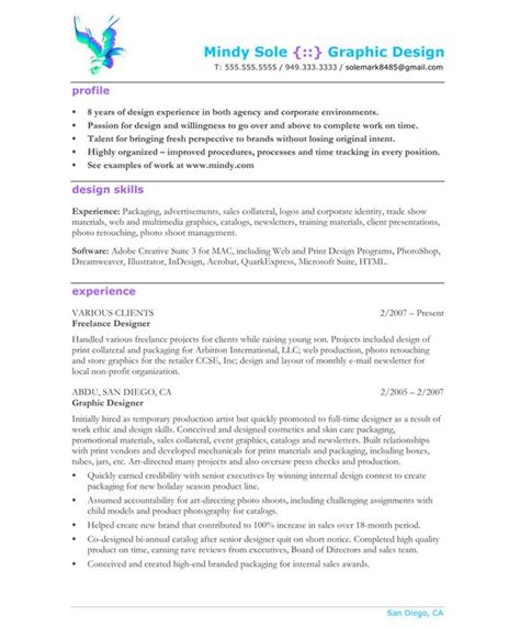 graphic designer resume accomplishments search
