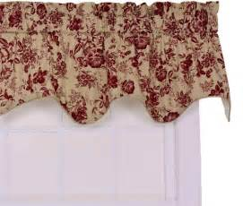 Ellis curtain palmer duchess valance red window curtain