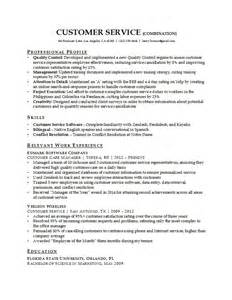 Resume Exles For In Customer Service 28 Customer Service Resume Template Info Resume Sle
