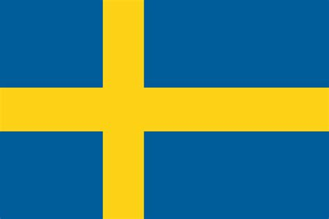 swedish colors free vector graphic sweden flag national flag nation