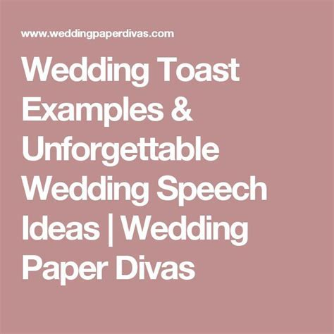 Wedding Toast Examples & Unforgettable Wedding Speech