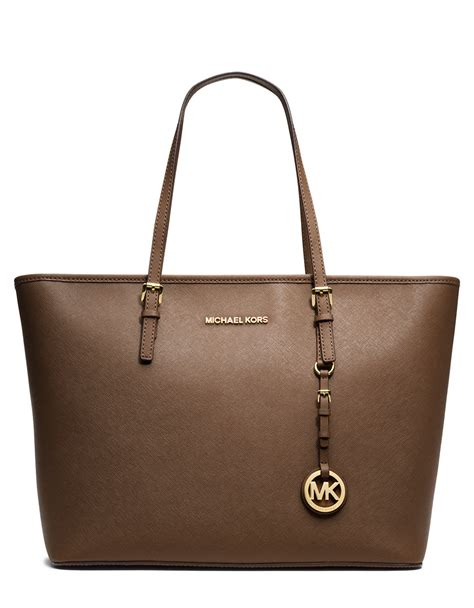 Michael Kors Jet Set Travel michael michael kors brown jet set leather travel tote