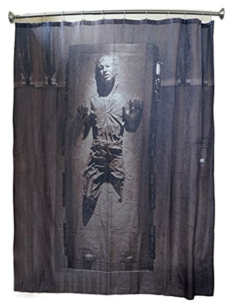 star wars han solo shower curtains in carbonite shower