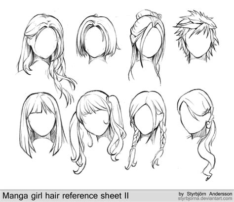 cool hairstyles drawing how to draw female anime hairstyles female hair hair