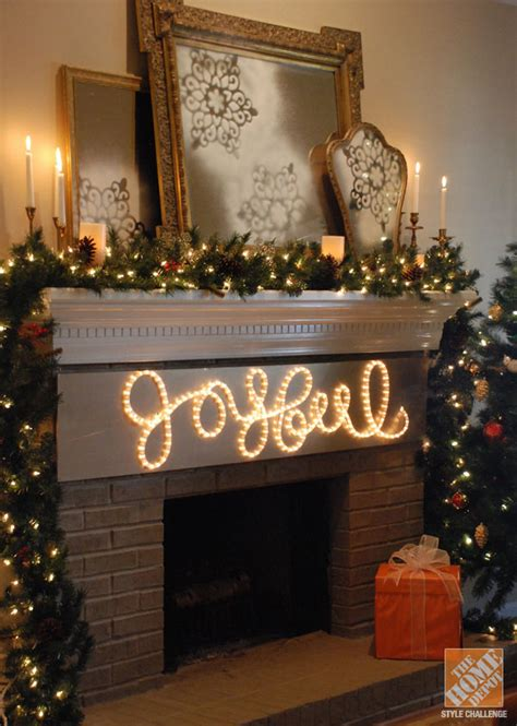 the home depot christmas decorations diy decor joyful rope light sign