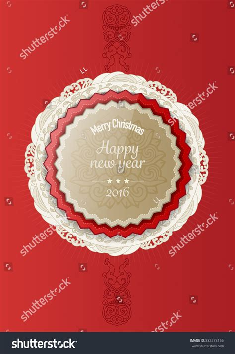 new year flower paper cutting 2016 happy new year greeting card stock vector 332273156