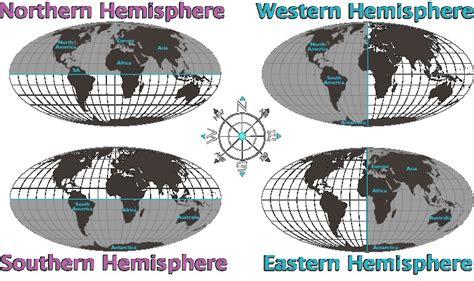 earths  hemispheres places